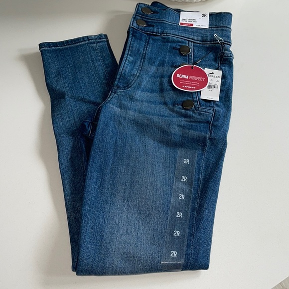 New Express Ankle Legging Super High Rise Jeans